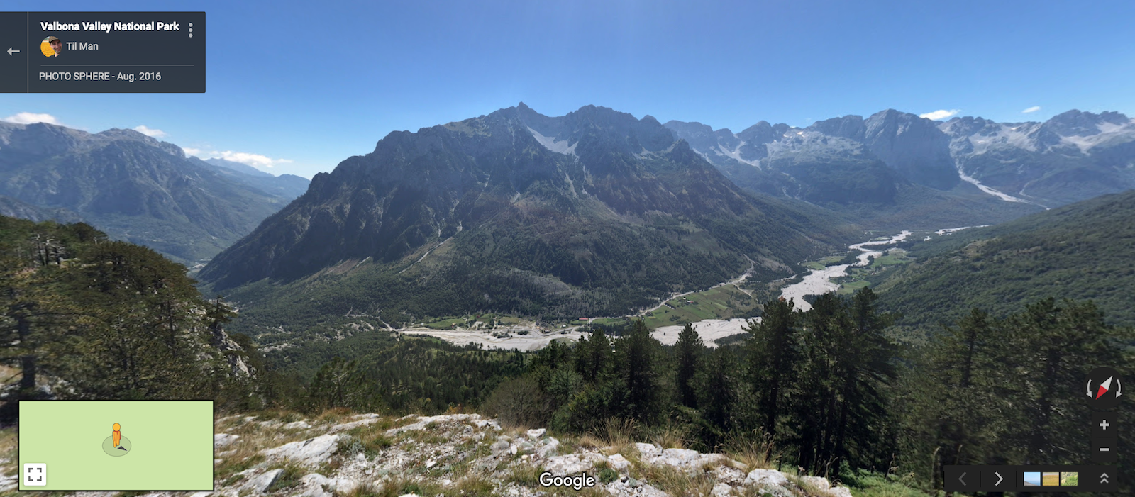 Blick ins Valbona Tal