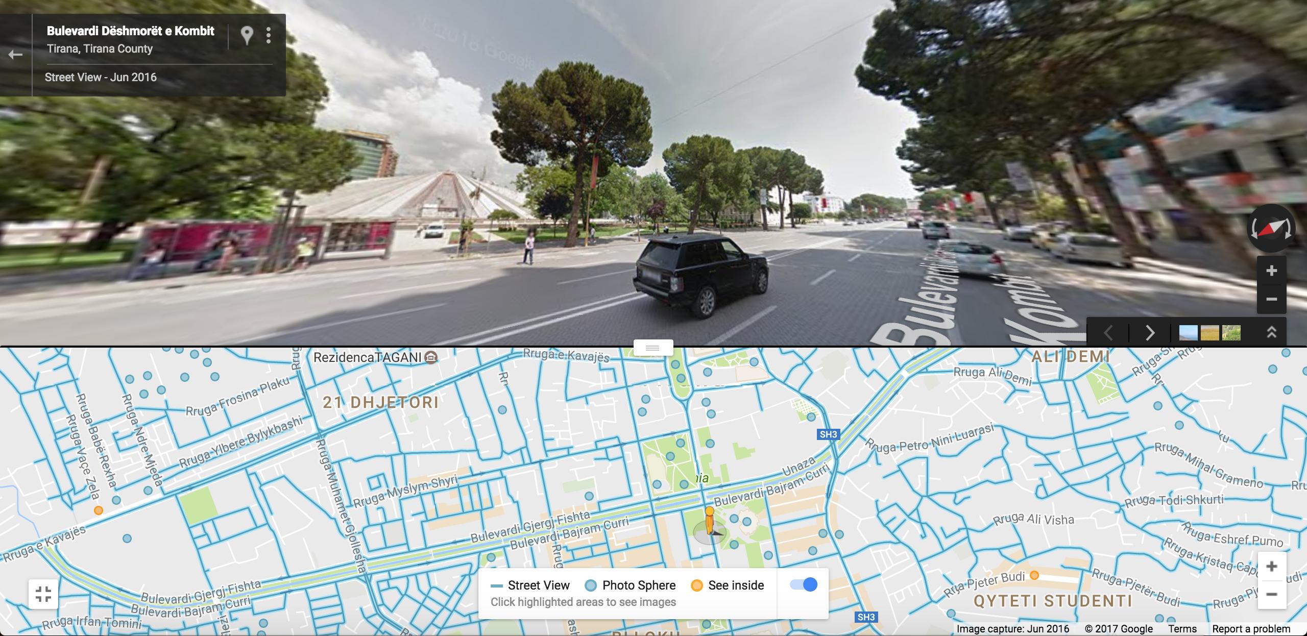StreetView Beispiel aus Tirana